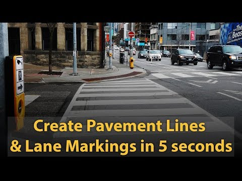 How To Create Pavement Lines  & Lane Markings In 5 Seconds