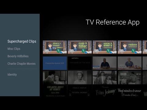 TV reference app demo