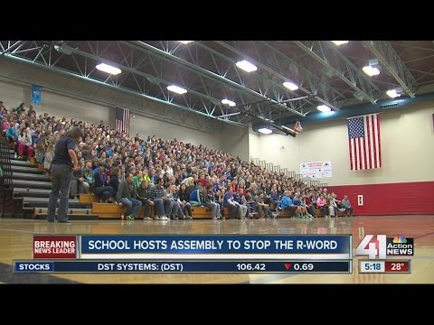 Blue Valley Middle School hosts assembly to stop the R-word