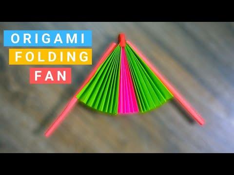 Origami Folding Fan - Easy Origami Paper Craft
