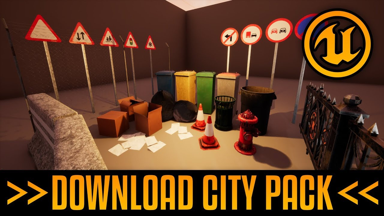 FREE DOWNLOAD Small City Model Pack! for UE4 - Medel Design