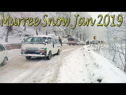 Murree Snowfall || January 2019 || Dangerous Road Condition || Mall Road Snowfall