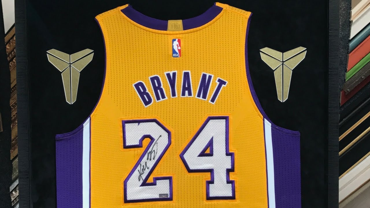381e8b821 Framing a Kobe Bryant Jersey with Black Mamba Logo and Farewell Letter. Jacquez  Art ...