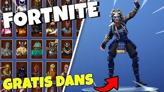 HOW TO GET A FREE DANCE IN FORTNITE!! | SHOWS ALL MY SKINS