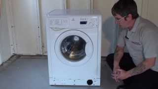 how to clean replace the filter on a washing machine indesit