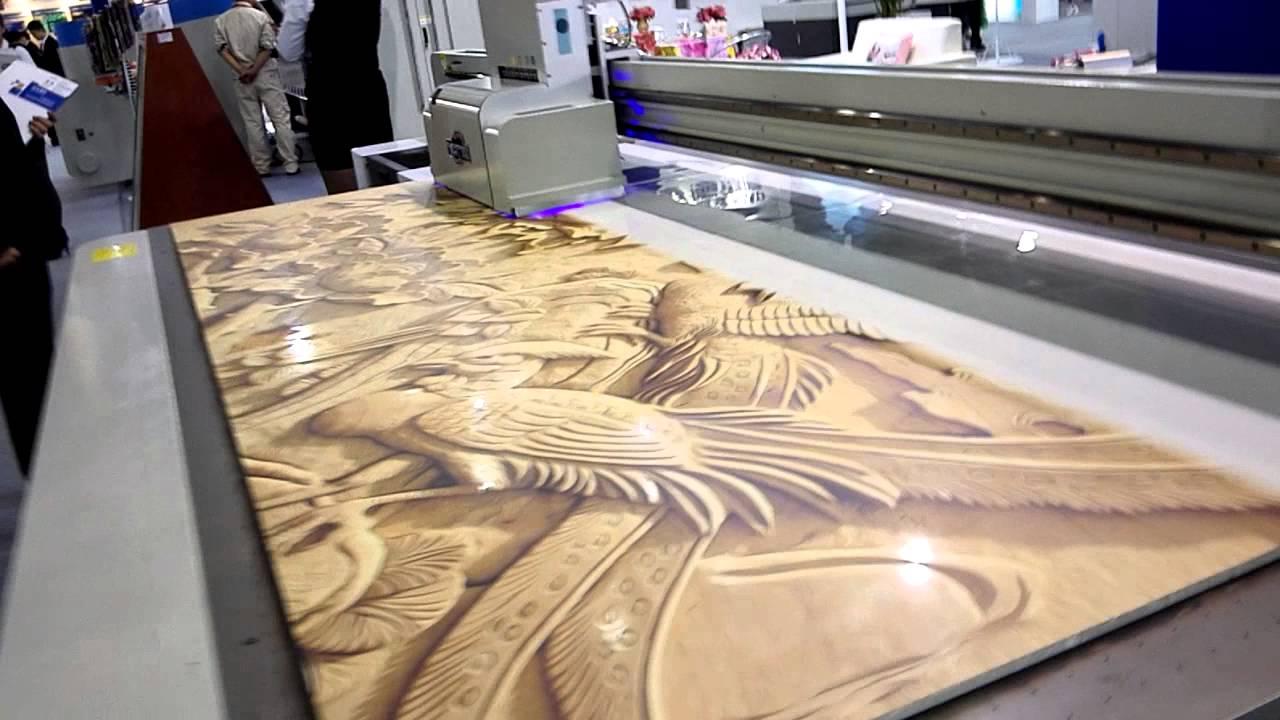 5d wood flatbed printer wooe sheet digital flatbed printer with fast speed youtube. Black Bedroom Furniture Sets. Home Design Ideas