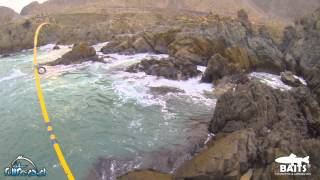 Testing 1 Baits, Modelo JERKBAITS: Pesca de la Corvina sobre rocas.
