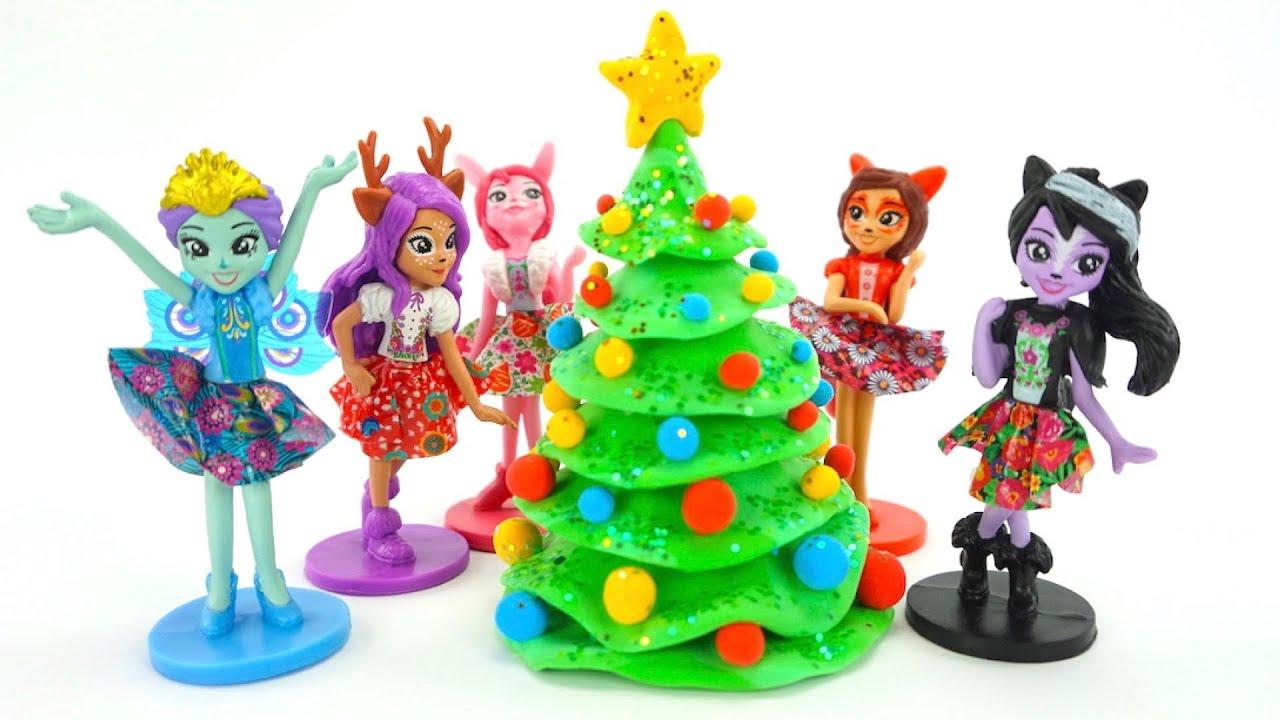 Лепим Новогоднюю елку из пластилина
