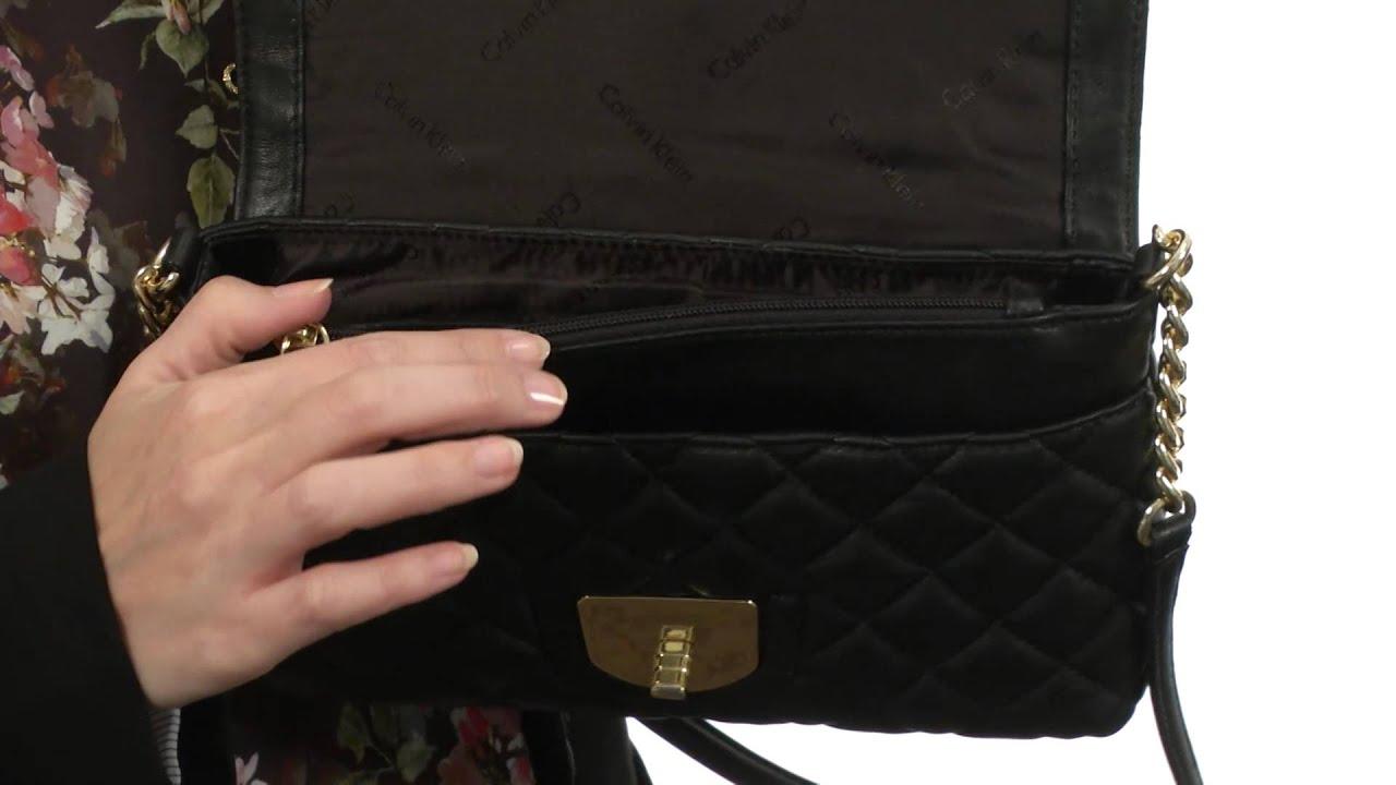 Calvin Klein - Quilted Lamb Leather Shoulder Bag SKU:8445518 - YouTube : calvin klein quilted handbag - Adamdwight.com