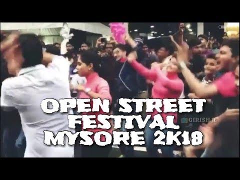 Colorfull dance in mysore | Open street festival mysore 2018 | bandhalo bandalo dance in mysore