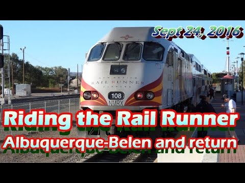 [HD] Rail Runner, Albuquerque to Belen and Return (Cab View) Sept 24 2016