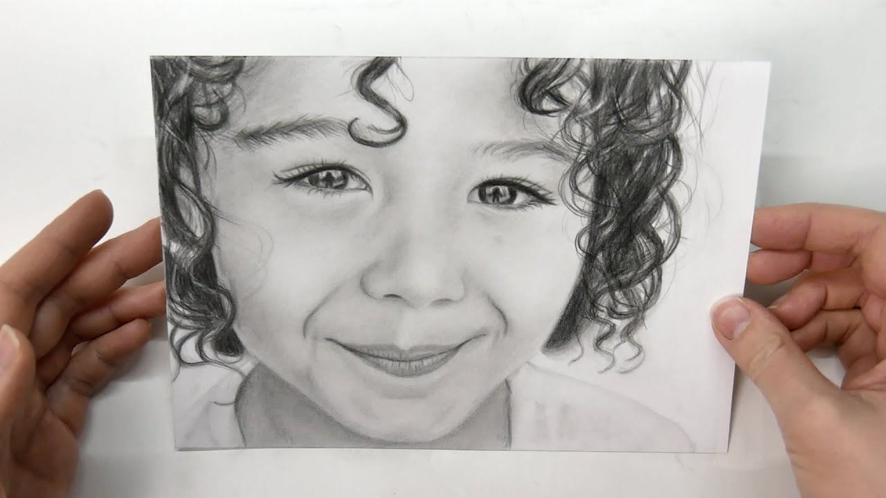 Drawing a Face from a Photo - Boy Portrait
