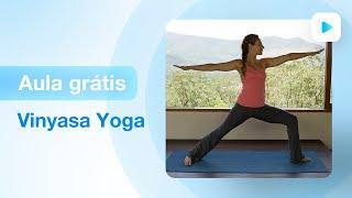 Aula de yoga para iniciantes- vinyasa yoga | Fernanda Cunha