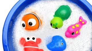 Wild Zoo Animals and Farm Toys Learn Sea Animals Names With Educational Toys