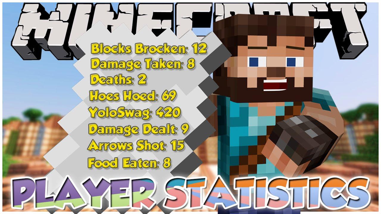 Minecraft Mod Showcase: COMPLETE PLAYER STATISTICS | Full in Depth Player  Stats in Minecraft!