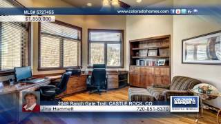 2049 Ranch Gate Trail  Castle Rock, Co Homes For Sale | Coloradohomes.com