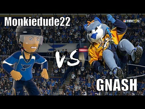 [4K] Monkiedude22 vs GNASH the Mascot of the Nashville Predators NHL Hockey Team