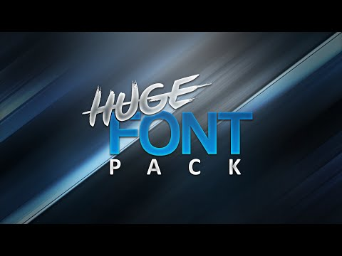 HUGE FREE Font Pack! (1000+ Fonts)