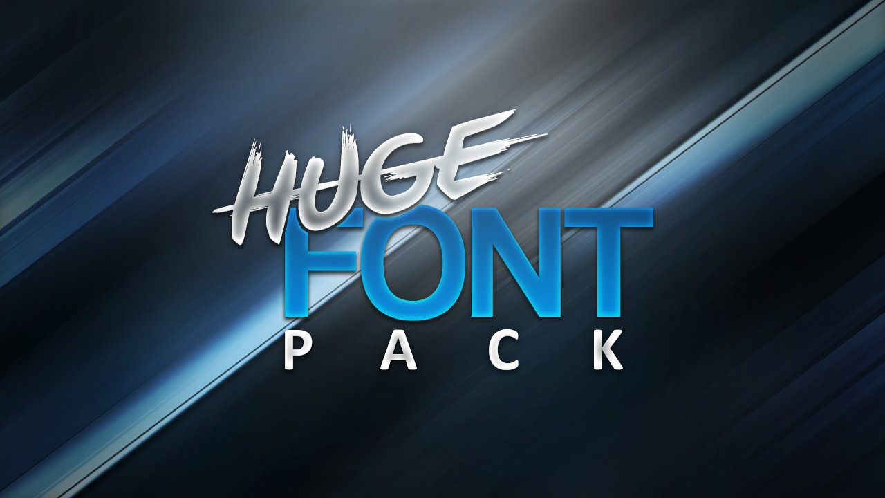 Download HUGE FREE Font Pack! (1000+ Fonts) - YouTube