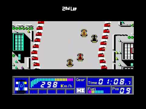 F1 GP CIRCUITS IDEA SOFTWARE COMMODORE 64 C64 GAMEPLAY