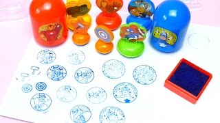 Avarangers Stamps Set for School - Toy Stamp Video for Kids