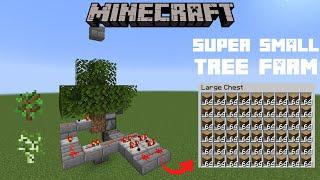 Minecraft Tutorial: INSANELY simple AFK TREE FARM | 4800 LOGS PER HOUR!
