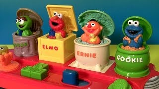 sesame street singing pop up pals cookie monster sings c is for cookie elmo s world song oscar
