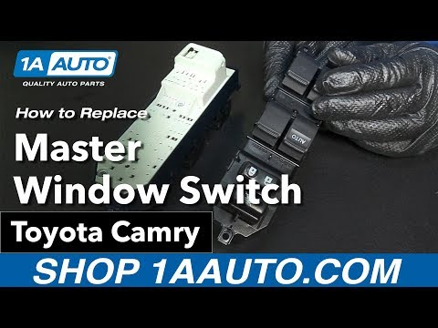 How to Replace Install Master Window Switch 09 Toyota Camry