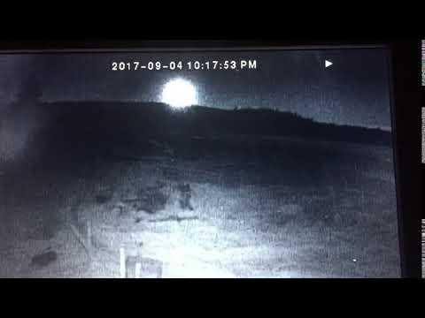 Meteorite fall right before Hurricane Irma, St Maarten, Maho Beach