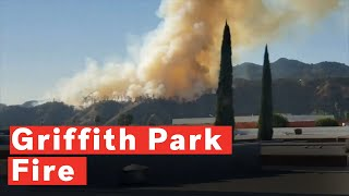 Fire Starts Near Griffith Park In Los Angeles, California