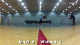 Crazy badminton game featuring Jan Ø Jørgensen & Viktor Axelsen