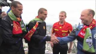 Man United-Sounders Coin Toss atop the Space Needle