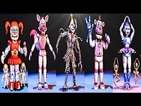 Download Five Nights at Freddy's: Sister Location Все Аниматроники | Secret Animatronic [EXTRAS]