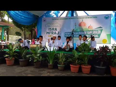 Penampilan Marawis SMPIT Anugerah Insani Pada Peringatan Isra' Mi'raj 1438H