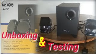 Creative SBS A120 _ 2.1 home theater | Unboxing & Sound Test