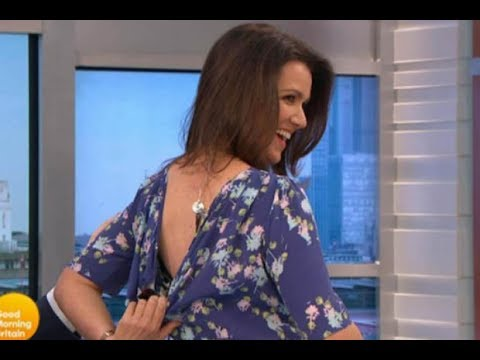 Basically Naked Susanna Reid Has Dress Pulled Down By Piers Morgan Live On Air