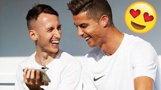 CRISTIANO RONALDO REAGISCE AL VIDEO DOVE LO TROVO SU FIFA + CROSSBAR CHALLENGE thumbnail
