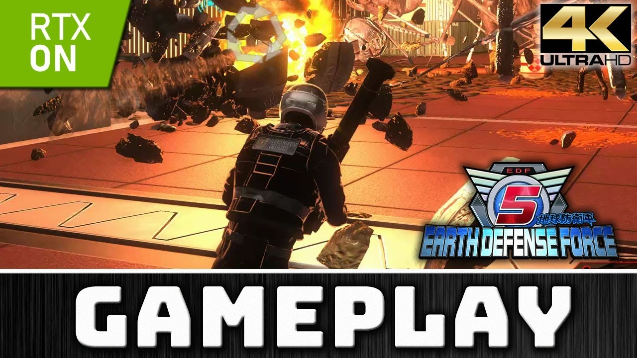 EARTH DEFENSE FORCE 5 | 4K Gameplay with RTX on 2080 Ti