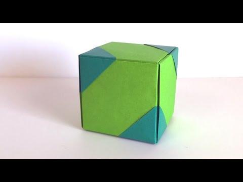 ハート 折り紙:折り紙 キューブ 折り方-youtube.com