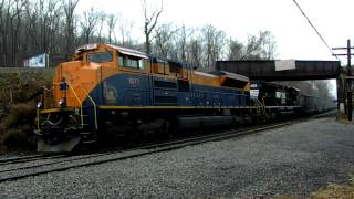 NS 590 W/ The New Jersey Central Heritage Unit Leading (HD)