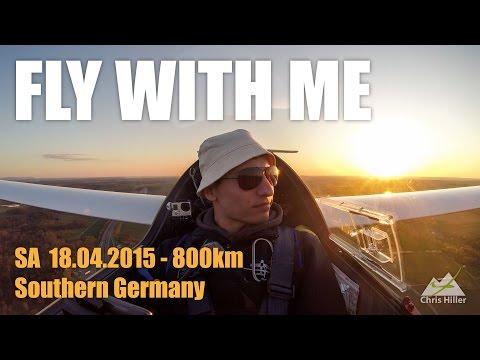 Segelfliegen - 800 km in Süddeutschland #sooo_bock (18.04.2015)