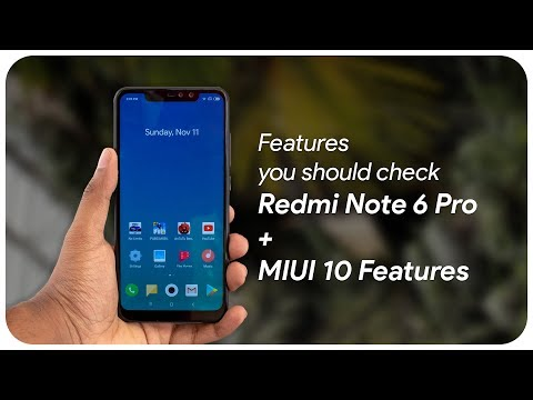Features you shouldn't miss in Redmi note 6 pro