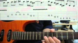 How to play on guitar Santana Europa with tabs -- part 1