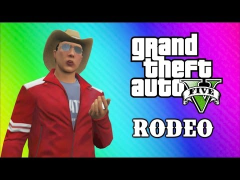 GTA 5 Online Funny Moments - Tank Rodeo,...