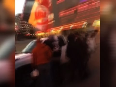 Raw: Truck Drives into Columbus Day Protesters
