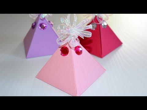 Comment Fabriquer Une Boite Cadeau FACILE - DIY Boite En Papier Pyramide