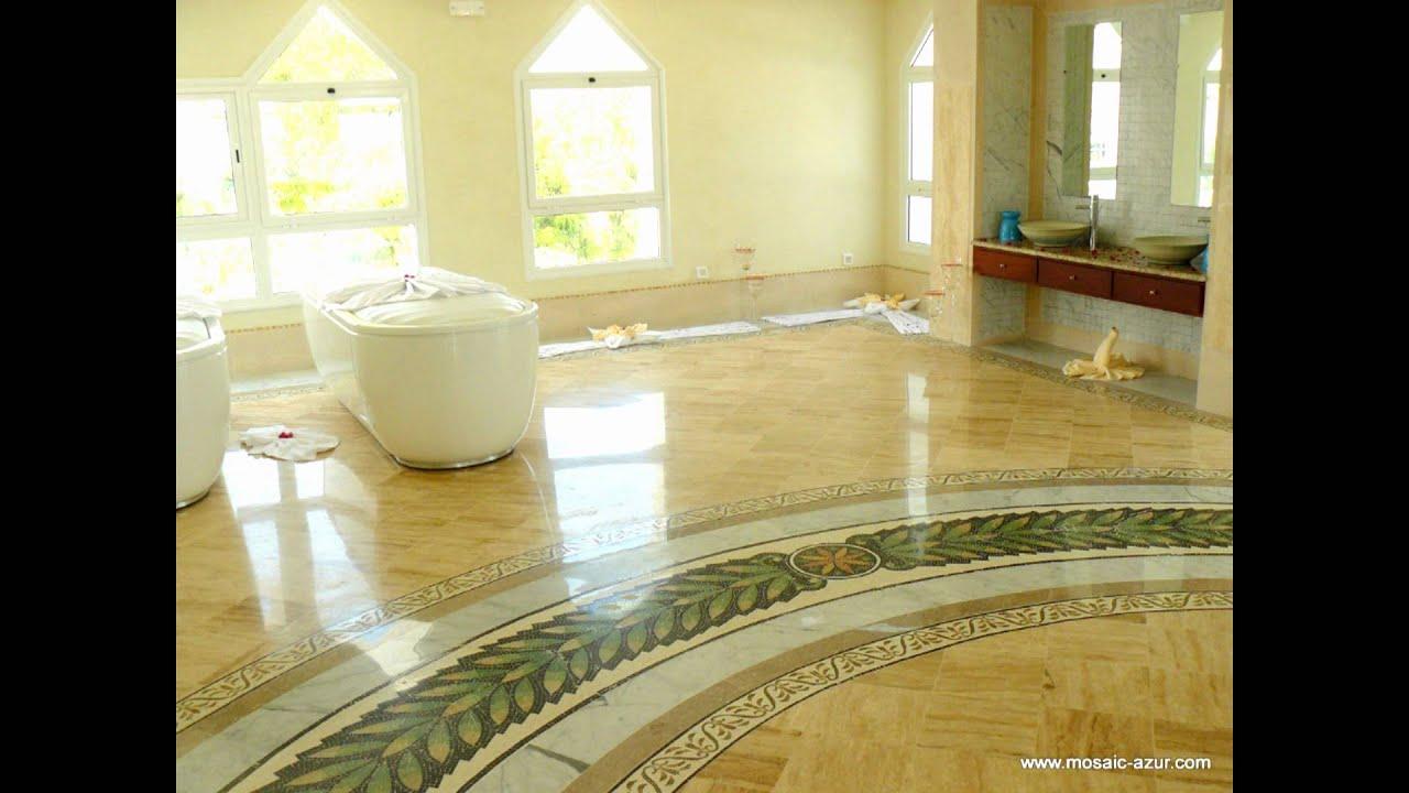 Idee Deco Couloir Moderne décoration personnalisé en mosaique de marbre www.mosaic-azur