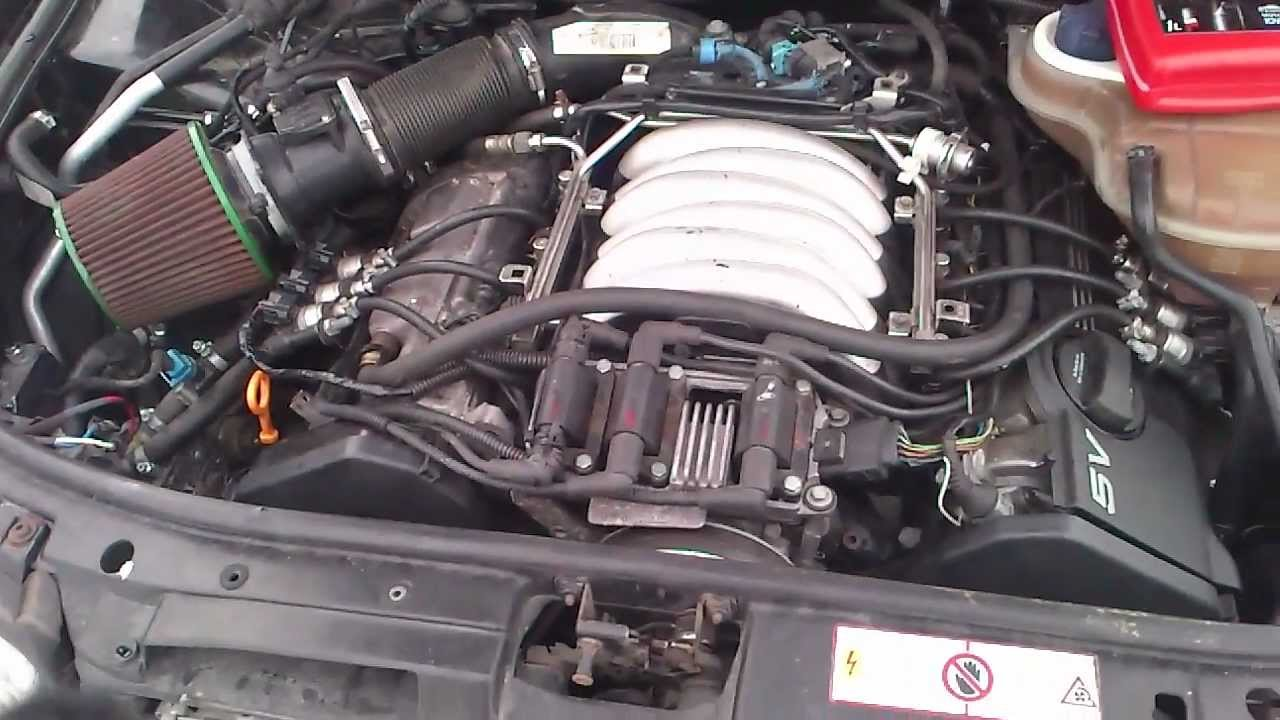 Audi A4 -Swap from 2 6 for 2 8 30v - YouTube