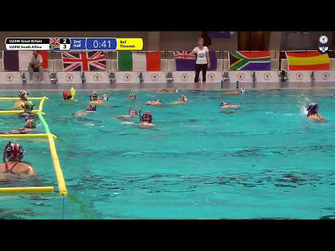 Game 202  (GBR vs RSA U24W) ENGLISH- 5th CMAS Underwater Hockey Age Group Worlds - Sheffield, UK