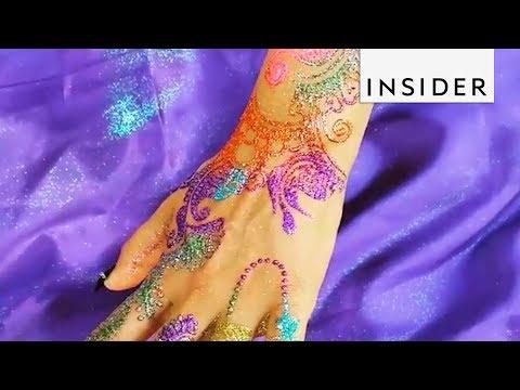Glitter Body Art Inspired By Henna